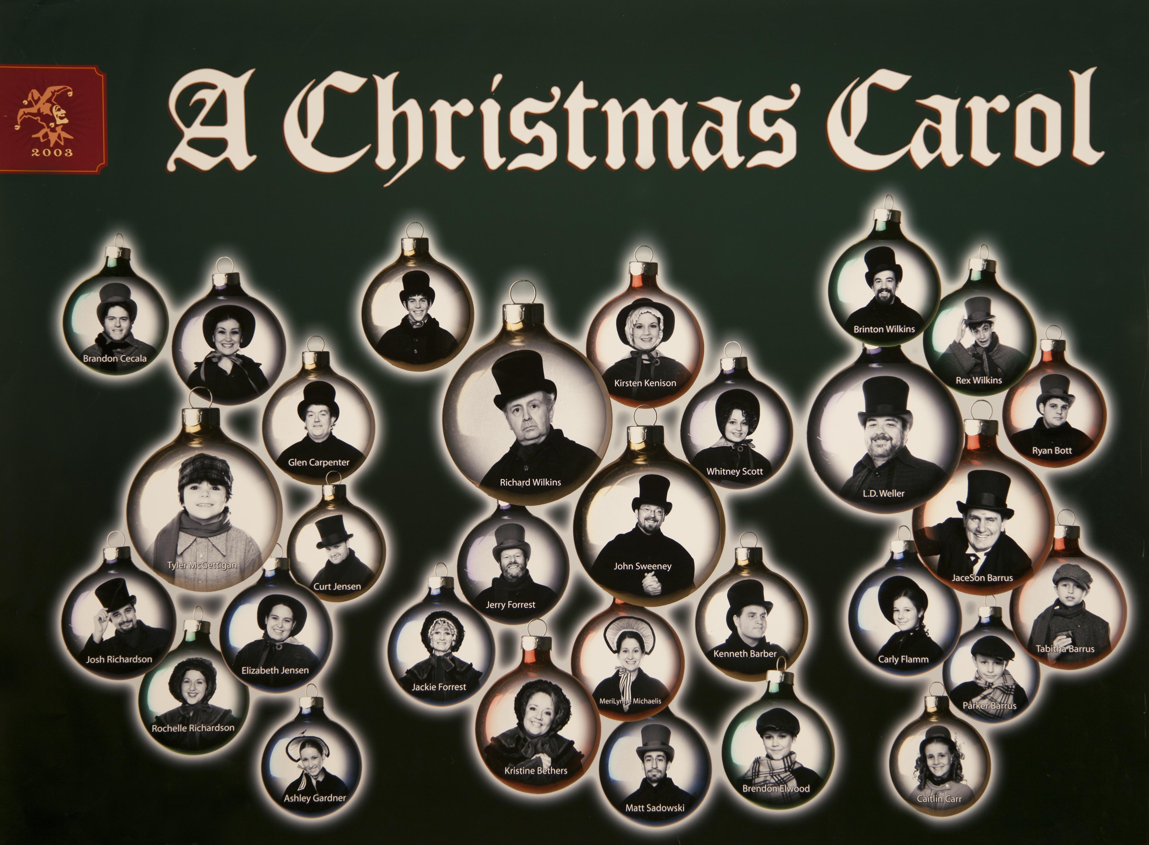 Hale Centre Theatre's 2003 A Christmas Carol Cast
